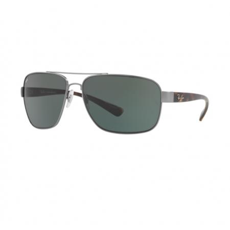 Óculos Solar Ray Ban  Rb3567l 029/71 66 Grafite Fosco  Lente  Verde