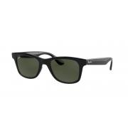 Oculos Solar Ray Ban Rb4640l 601/31 50 Preto Brilho Lente Verde G15