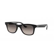 Oculos Solar Ray Ban Rb4640l 601/m3 Preto Brilho Lente Cinza Degradê Polarizada