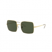 Óculos Solar Ray Ban Square rb1971l 919631 54 Dourado  Lente Verde Convencional