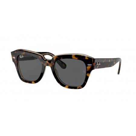 Óculos Solar Ray Ban State Street Rb2186 1292b1 52 Marrom Translúcido  Lente  Cinza