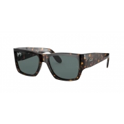 Oculos Solar Ray Ban Wayfarer Nomad Rb2187 902/R5 54 Marrom Tartaruga Lente Azul