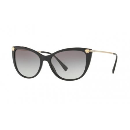 Óculos Solar Versace Ve4345b Gb1/11 57 Preto Brilho Lente Cinza Degradê