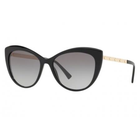 Óculos Solar Versace Ve4348 Gb1/11 57 Preto Brilho Lente Cinza
