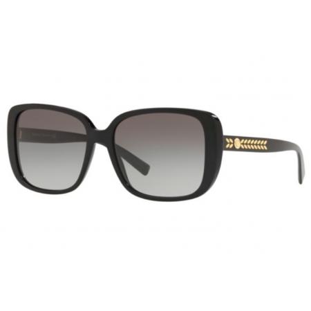 Óculos Solar Versace Ve4357 Gb1/11 56 Preto Brilho Lente Cinza Degradê