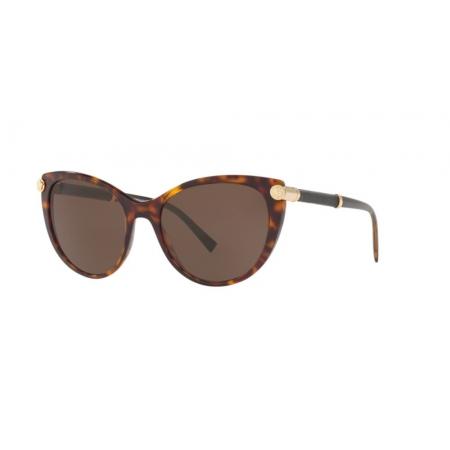 Óculos Solar Versace Ve4364q 108/73 55 Marrom Havana Lente Marrom