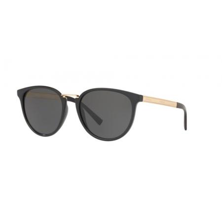 Óculos Solar Versace Ve4366 Gb1/87 54 Preto Brilho Lente Cinza
