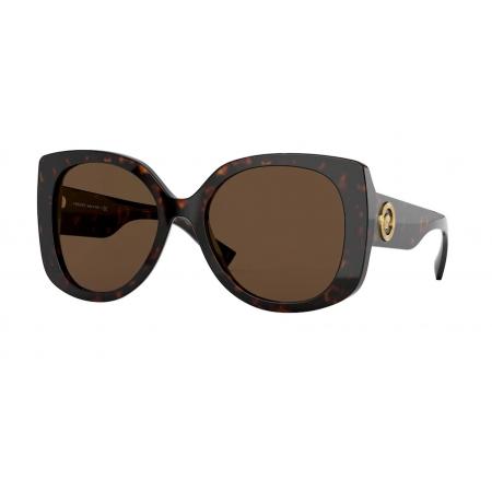 Óculos Solar Versace Ve4387 108/73 56 Marrom Havana Lente Marrom