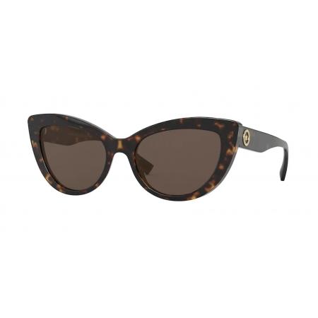 Óculos Solar Versace Ve4388 108/73 54 Marrom Tartaruga Lente Marrom