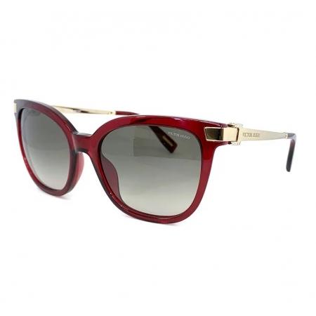Óculos Solar Victor Hugo Sh1796s 0954 53 Vermelho Translucido Lente Cinza Degrade