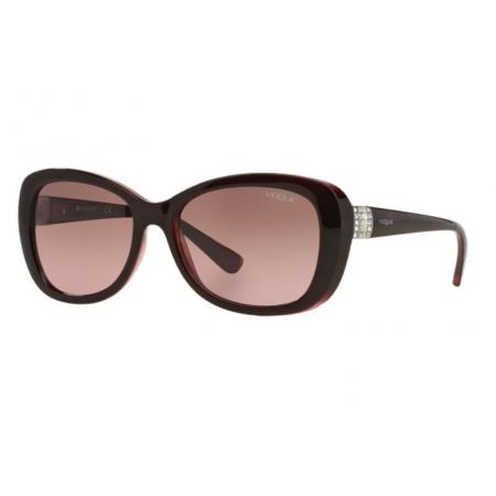 Óculos Solar Vogue Vo2943sb 194114 55 Marrom Lente Rosa Degrade Marrom