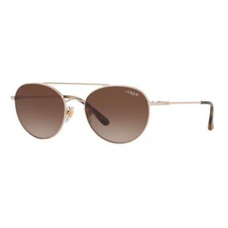 Óculos Solar Vogue Vo4129s 848/13 53 Dourado Claro Lente Marrom Degradê