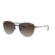 Óculos Solar Vogue Vo4156s 352/13 55 Azul Lente Marrom Degrade