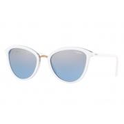 Óculos Solar Vogue Vo5270s 27577c 57 Branco Lente Azul Degradê Espelhada
