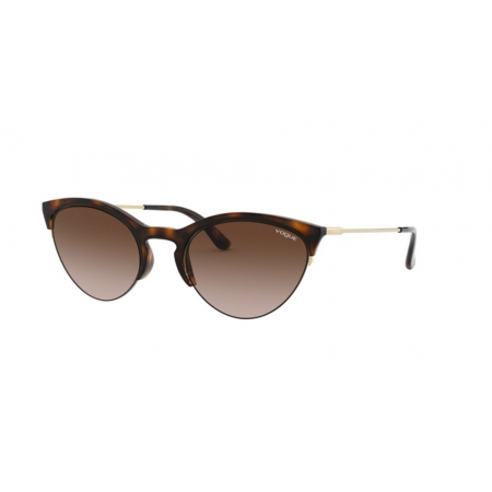 Óculos Solar Vogue Vo5287s 238613 54 Marrom Havana Brilho Lente Marrom Degradê