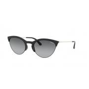 Óculos Solar Vogue Vo5287s W44/11 54 Preto Brilho Lente Cinza Degradê