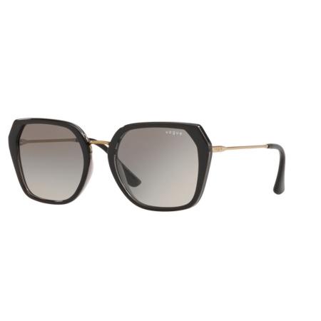 Óculos Solar Vogue Vo5302sl 238511 54 Preto Brilho Lente Cinza Degrade