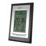 Relógio Despertador Digital Herweg 2970 034 Termometro Calendario