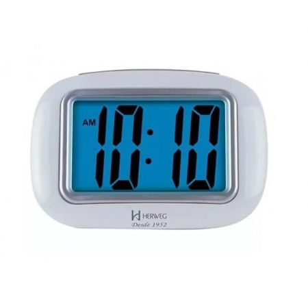 Relógio Despertador Digital Herweg 2976 021 Branco