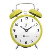 Relógio Despertador Herweg 2202 287 Amarelo Retrô Vintage