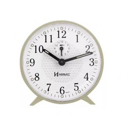 Relógio Despertador Herweg 2220 032 Mecânico Marfim