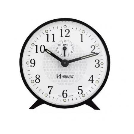 Relógio Despertador Herweg 2220 034 Mecânico Preto