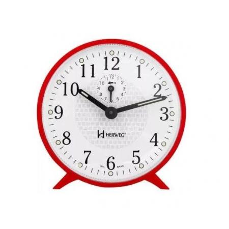 Relógio Despertador Herweg 2220 044 Mecânico Vermelho