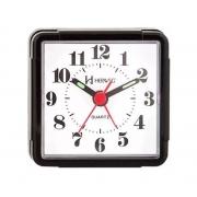 Relógio Despertador Herweg 2504 034 Preto Quartz