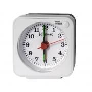 Relógio Despertador Herweg 2510 021 Branco Iluminação Noturna