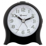 Relógio Despertador Herweg 2572 034 Quartz Fantasminha Preto