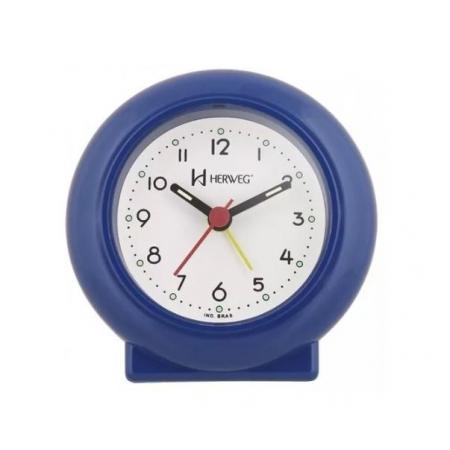 Relógio Despertador Herweg 2611 011 Azul Escuro Fluorescente