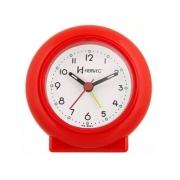 Relógio Despertador Herweg 2611 044 Vermelho Fluorescente