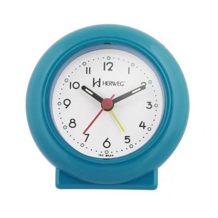 Relógio Despertador Herweg 2611 267 Azul Fluorescente