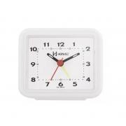 Relógio Despertador Herweg 2612 021 Branco Fluorescente