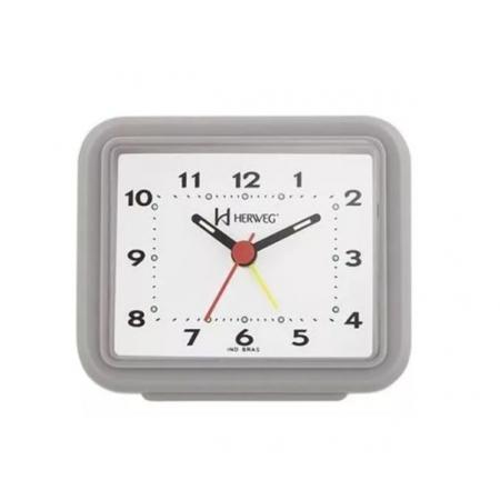 Relógio Despertador Herweg 2612 024 Cinza Fluorescente
