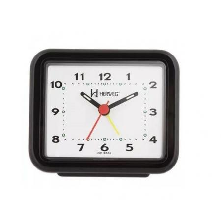 Relógio Despertador Herweg 2612 034 Preto Fluorescente
