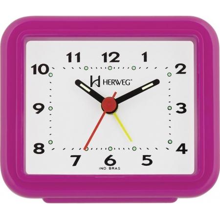 Relógio Despertador Herweg 2612 188 Rosa Fluorescente