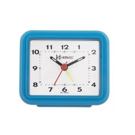Relógio Despertador Herweg 2612 267 Azul Fluorescente