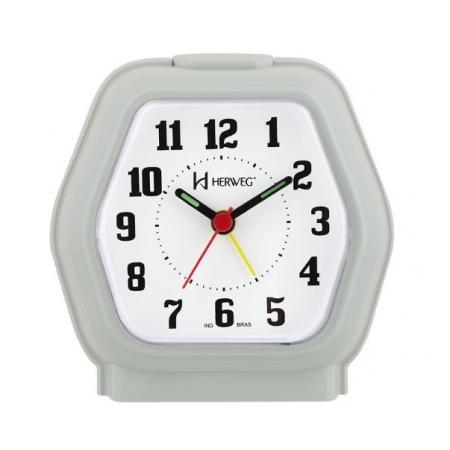 Relógio Despertador Herweg 2635 072 Verde Iluminação Noturna