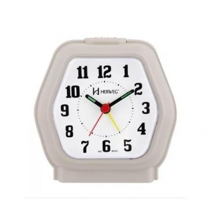 Relógio Despertador Herweg 2635 131 Marrom Iluminação Noturna
