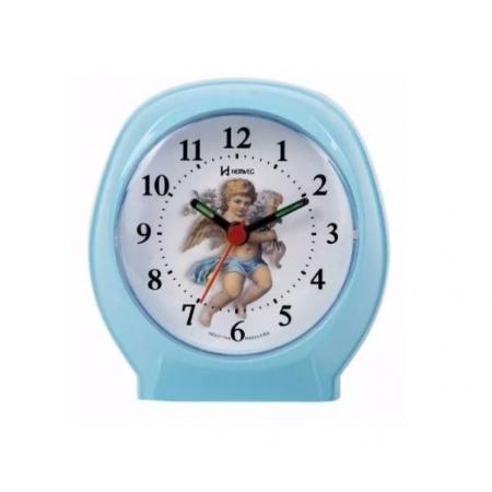 Relógio Despertador Herweg 2640 007 Azul Bebe Anjo