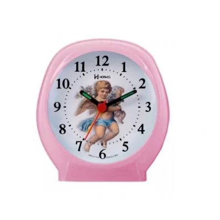 Relógio Despertador Herweg 2640 036 Rosa Anjo