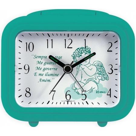 Relógio Despertador Herweg 2649 283 Quartz Oração Verde