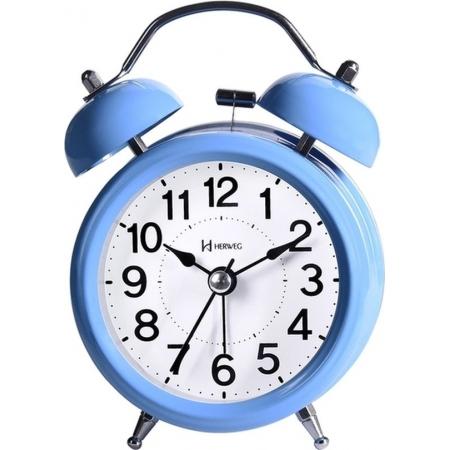 Relógio Despertador Herweg 2707 014 Quartz Azul