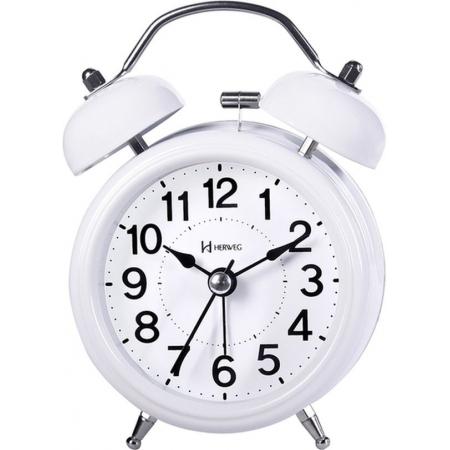 Relógio Despertador Herweg 2707 021 Quartz Branco