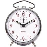 Relógio Despertador Mecanico Herweg 2235 045 Prata Vinho