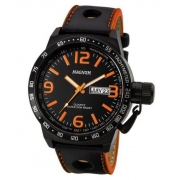 Relógio Magnum MA31542J Calendario Pulseira Couro