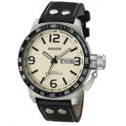 Relógio Magnum MA31542Y Calendario Pulseira Couro