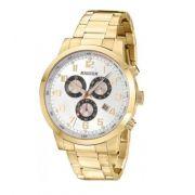 Relógio Magnum MA33166H Calendario Cronografo Pulseira Aço