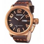 Relógio Magnum MA33399M Calendario Pulseira Couro